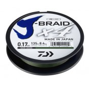 FILO DA PESCA TRECCIATO DARK GREEN DAIWA J BRAID 8X 0,28MM 300M